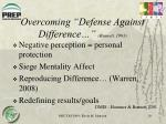 overcoming defense against difference bennett 1993
