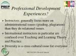 professional development experiences