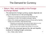 the demand for currency31