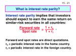 what is interest rate parity