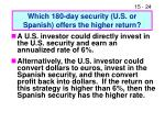 which 180 day security u s or spanish offers the higher return