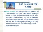 god destroys the cities
