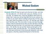 wicked sodom