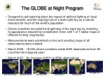 the globe at night program