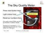 the sky quality meter