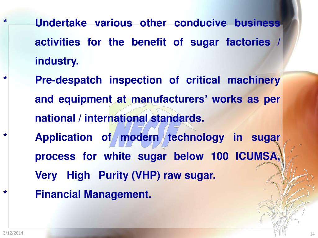 PPT - National Federation of Co-operative Sugar Factories Ltd