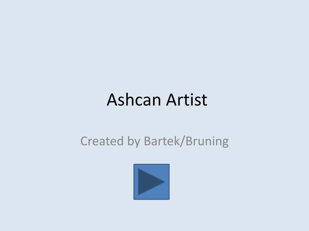ashcan artist l.
