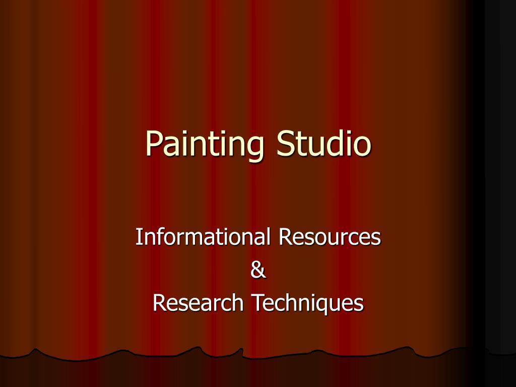 painting studio l.
