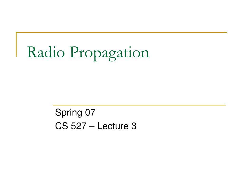 radio propagation l.