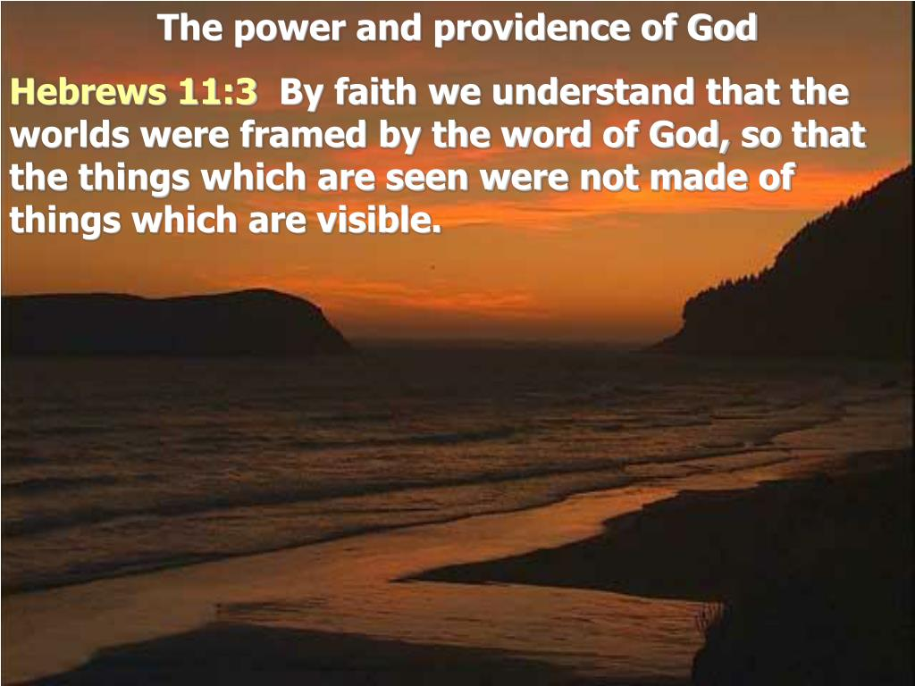 PPT - The power and providence of God PowerPoint Presentation - ID ...