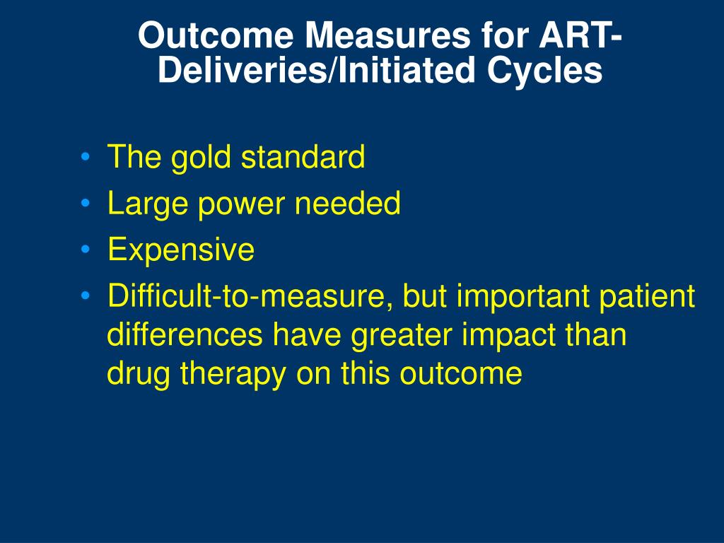 Outcome Measures for ART-