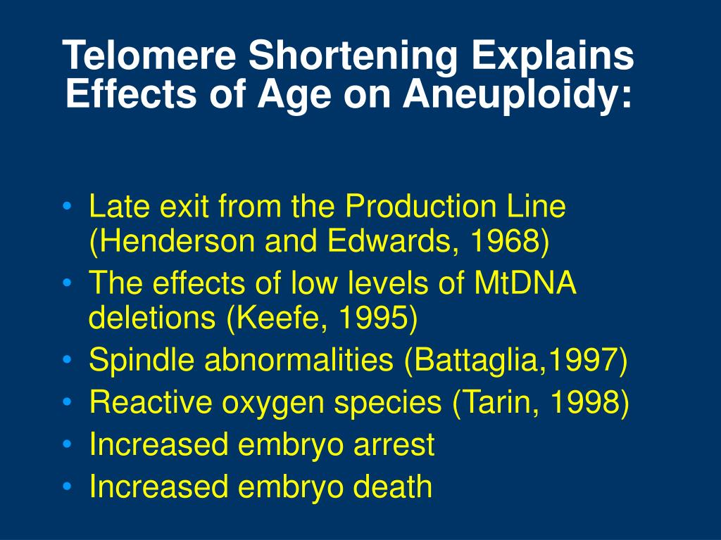 Telomere Shortening Explains Effects of Age on Aneuploidy: