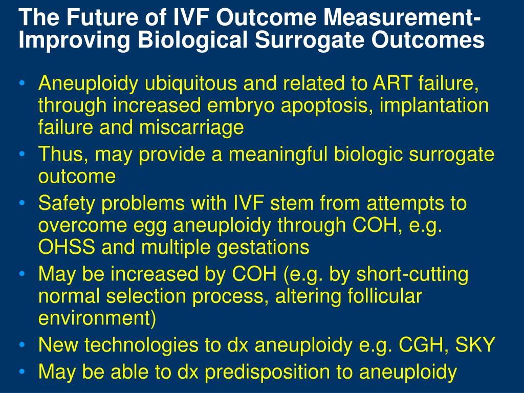 The Future of IVF Outcome Measurement-Improving Biological Surrogate Outcomes