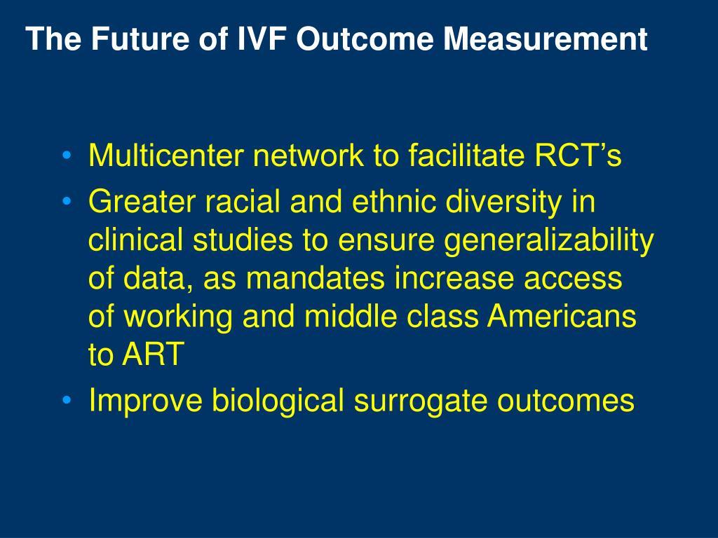 The Future of IVF Outcome Measurement