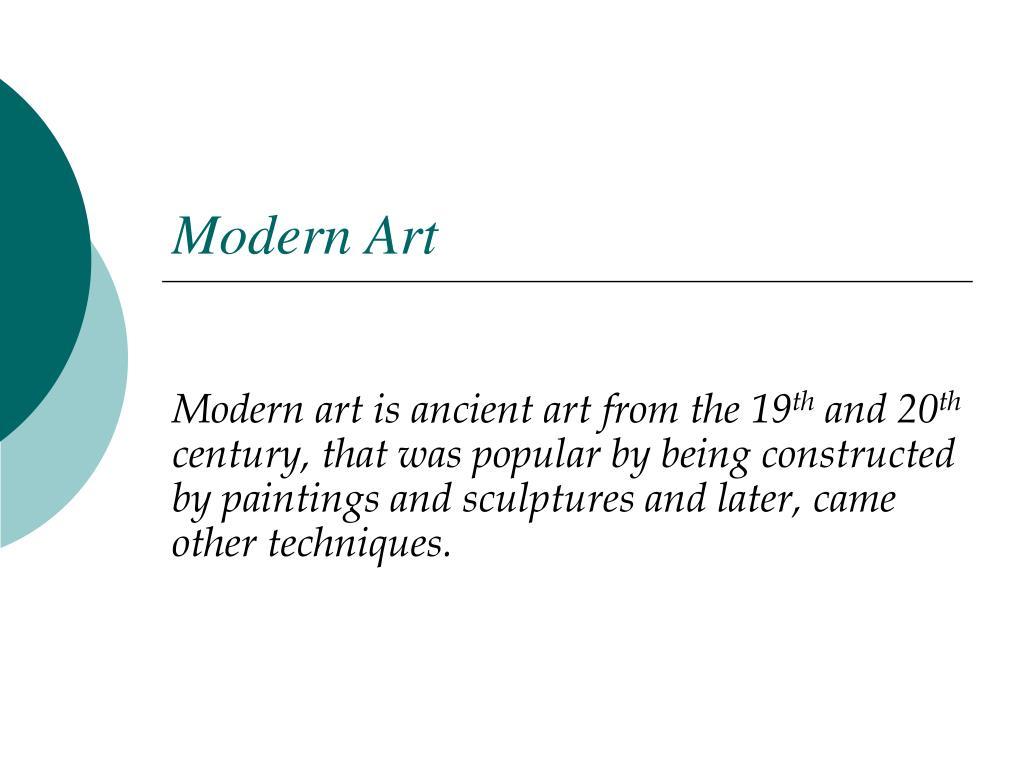 modern art l.