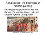renaissance the beginning of modern painting