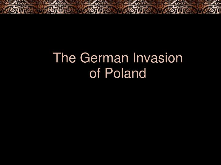 the german invasion of poland n.