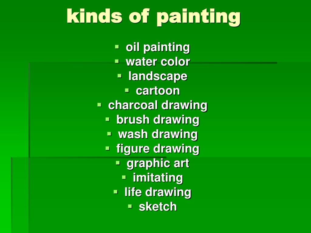 kinds of painting