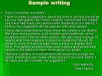 sample writing