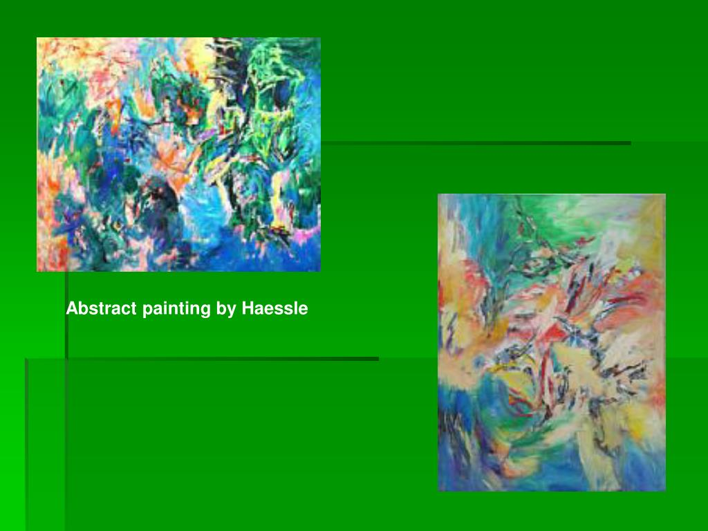 Abstract painting by Haessle