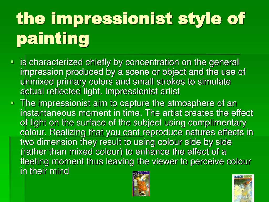 the impressionist style of painting