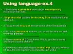 using language ex 4