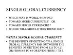 single global currency10