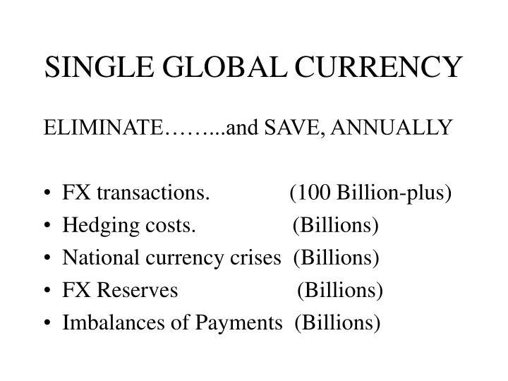 Single global currency2