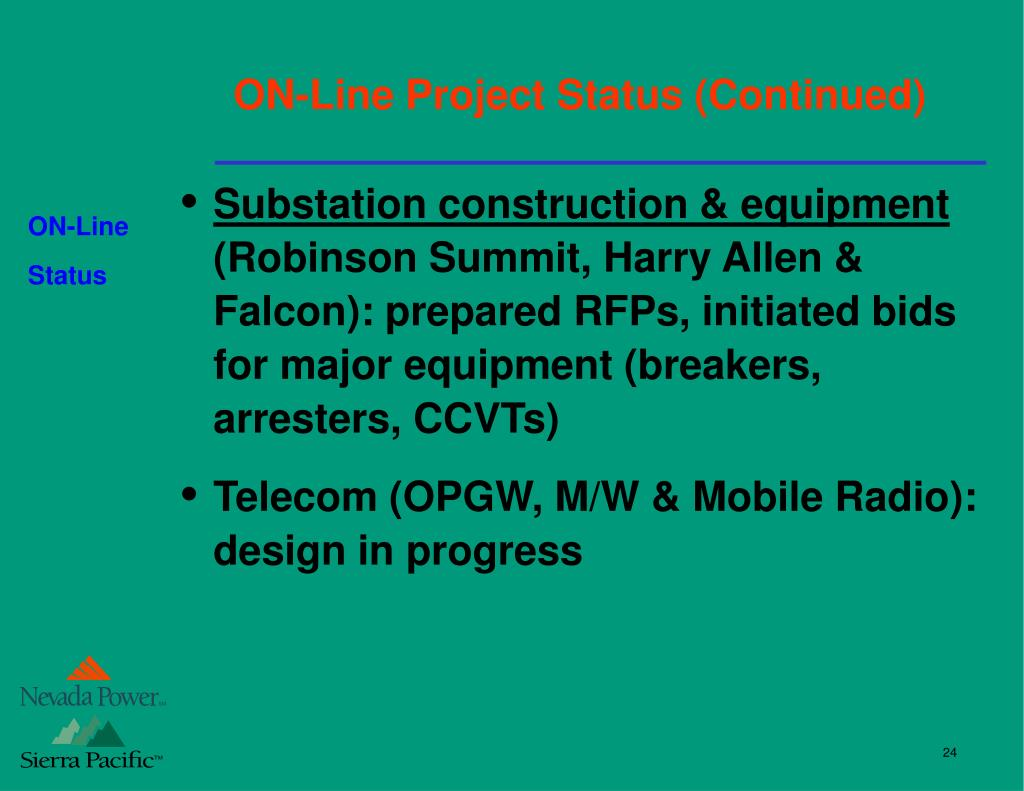 "PPT - ""One Nevada"" Transmission Line (ON-Line) PowerPoint"