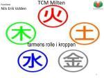 tcm milten tarmens rolle i kroppen