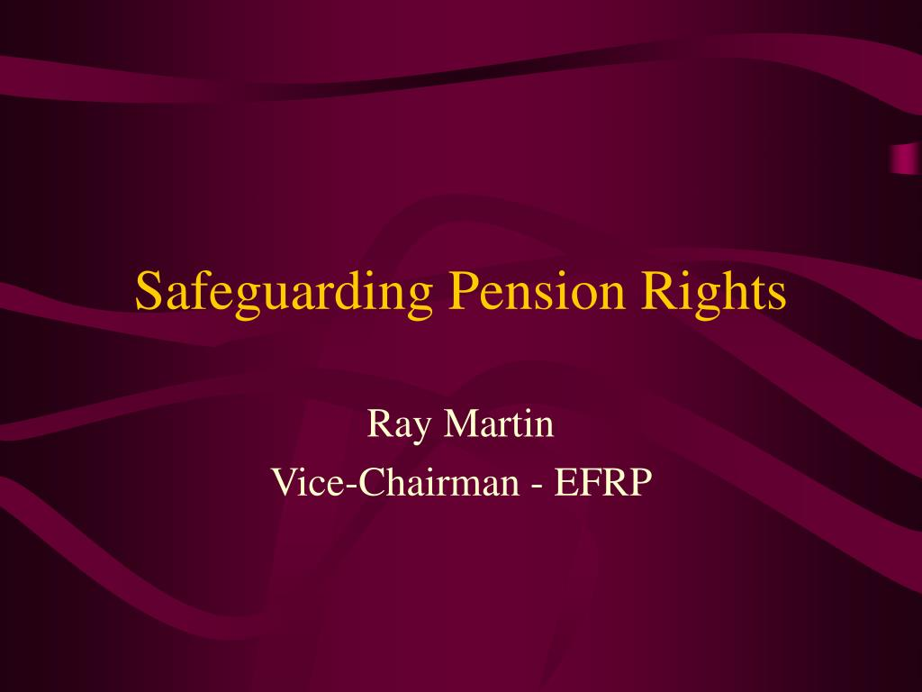 safeguarding pension rights l.