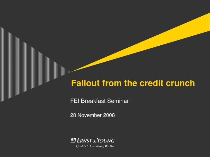 fallout from the credit crunch n.
