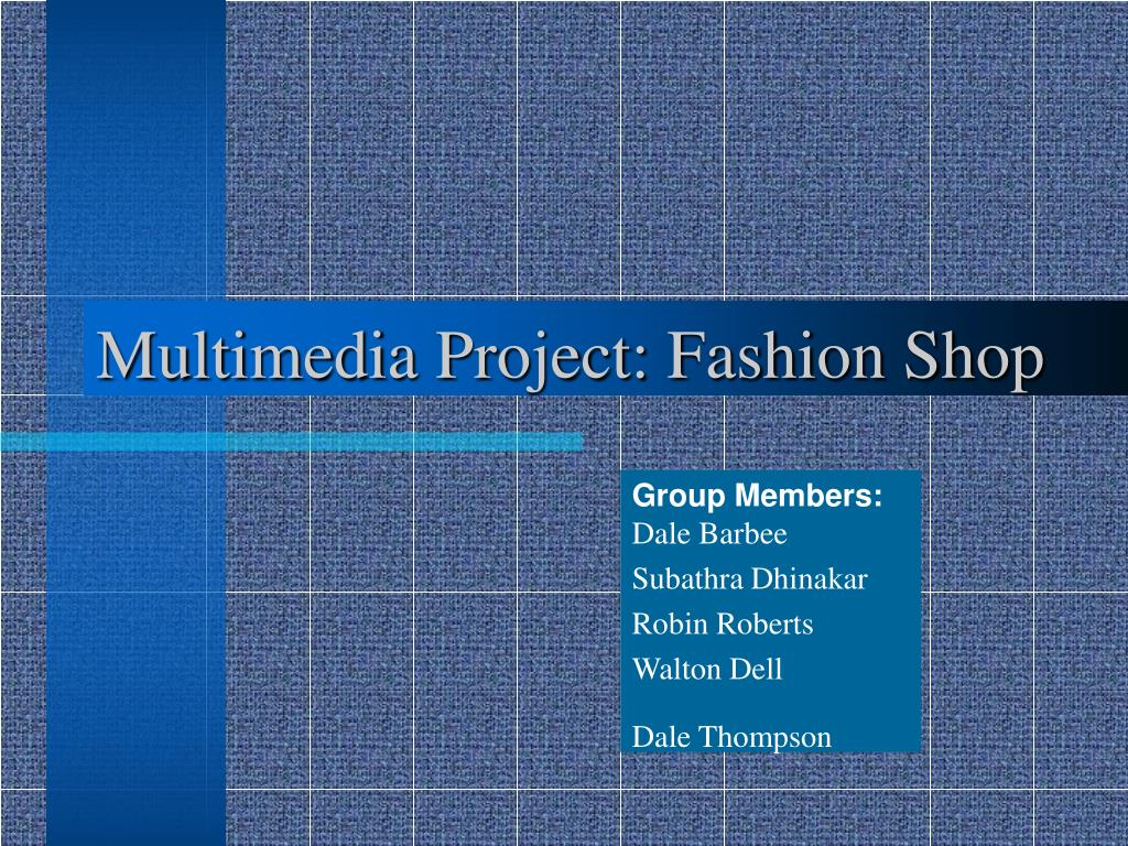 multimedia project fashion shop l.
