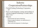 industry cooperation partnerships