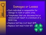 damages or losses