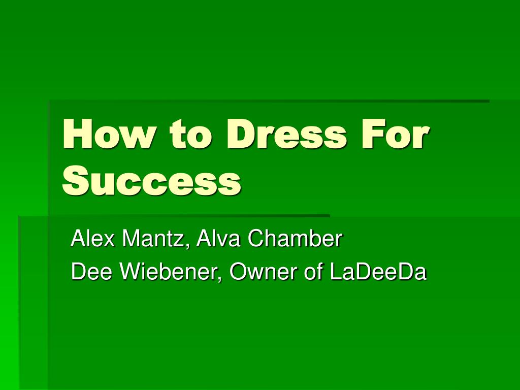 how to dress for success l.