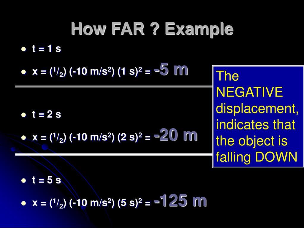 How FAR ? Example