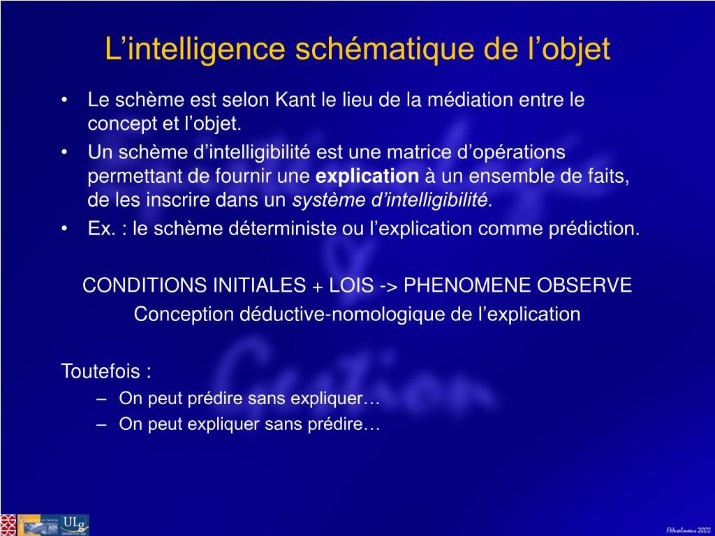 L'intelligence schématique de l'objet
