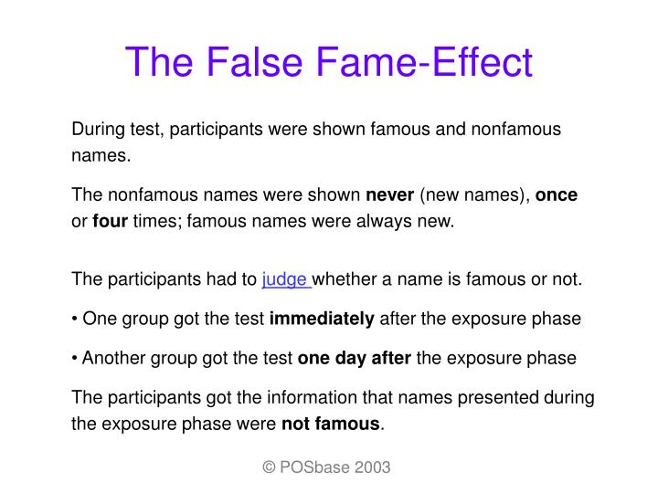 the effects of fame