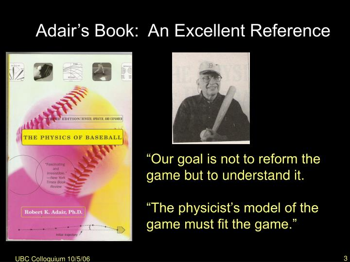 Adair s book an excellent reference