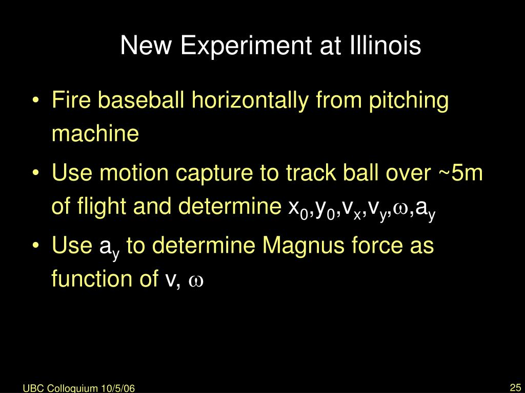 New Experiment at Illinois