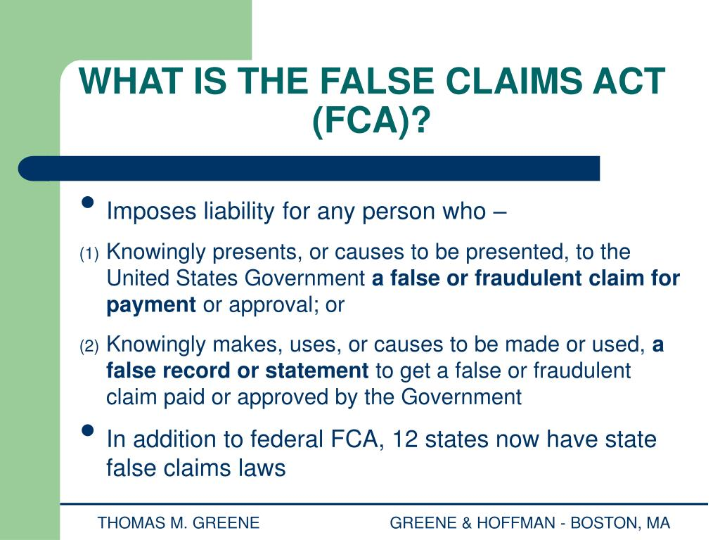 PPT - OFF-LABEL MARKETING & THE FALSE CLAIMS ACT ...