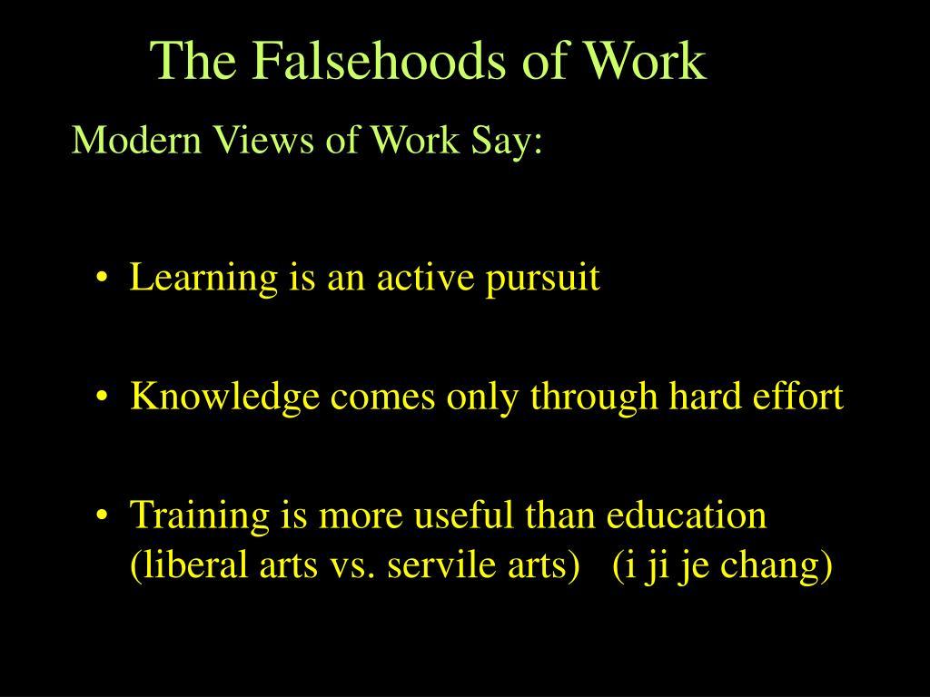 The Falsehoods of Work