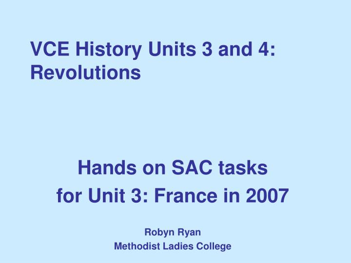 Vce history units 3 and 4 revolutions