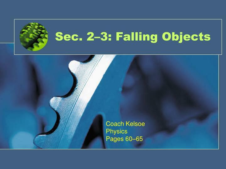 sec 2 3 falling objects n.