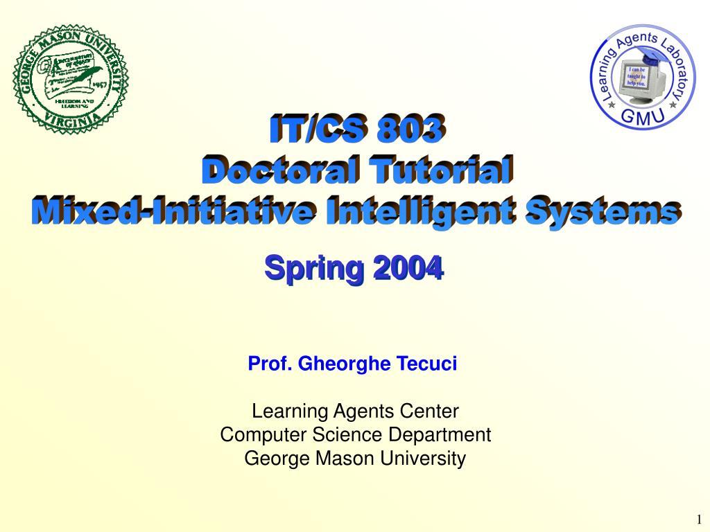 IT/CS 803