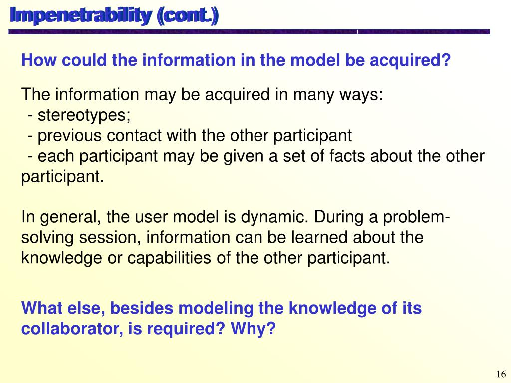 Impenetrability (cont.)