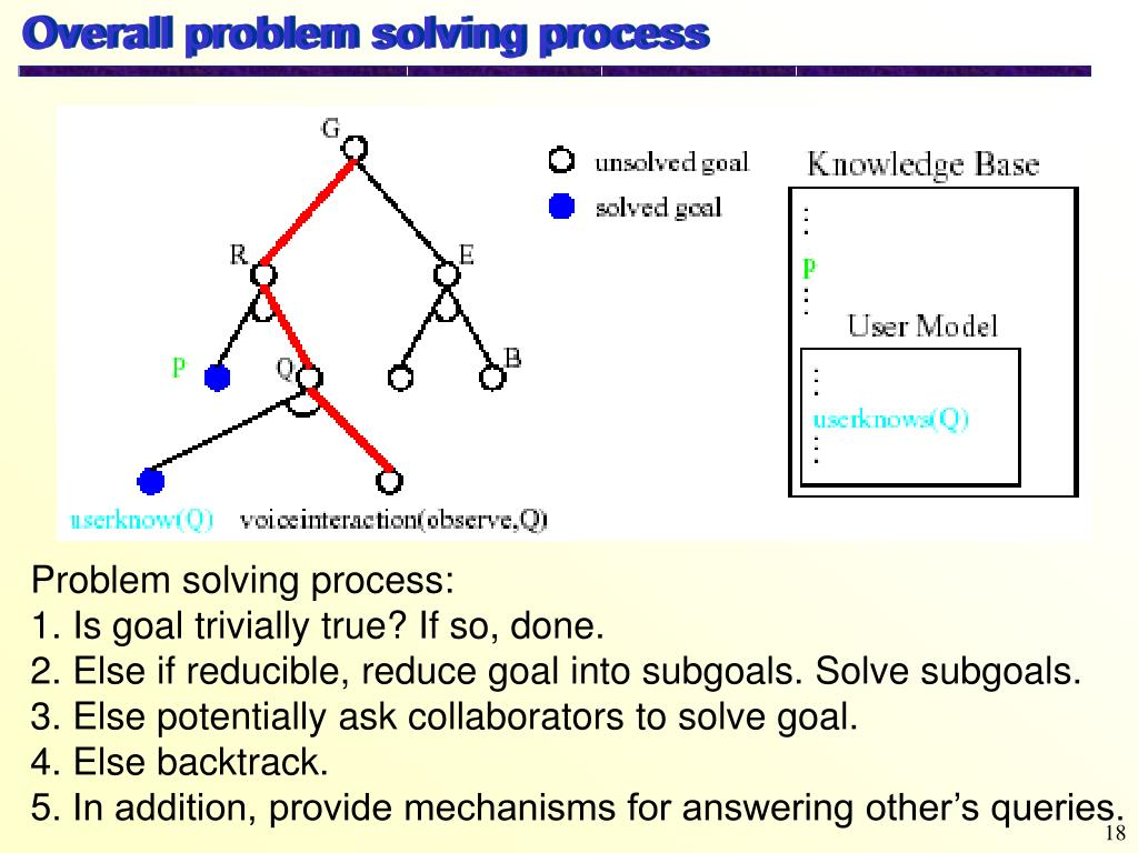 Overall problem solving process
