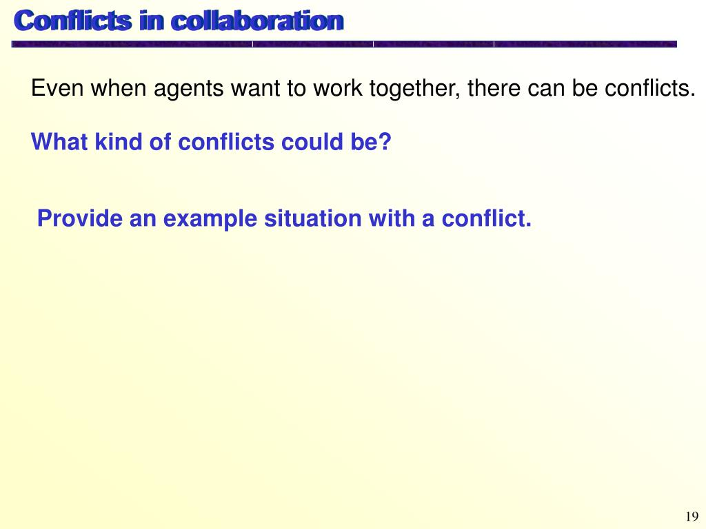 Conflicts in collaboration