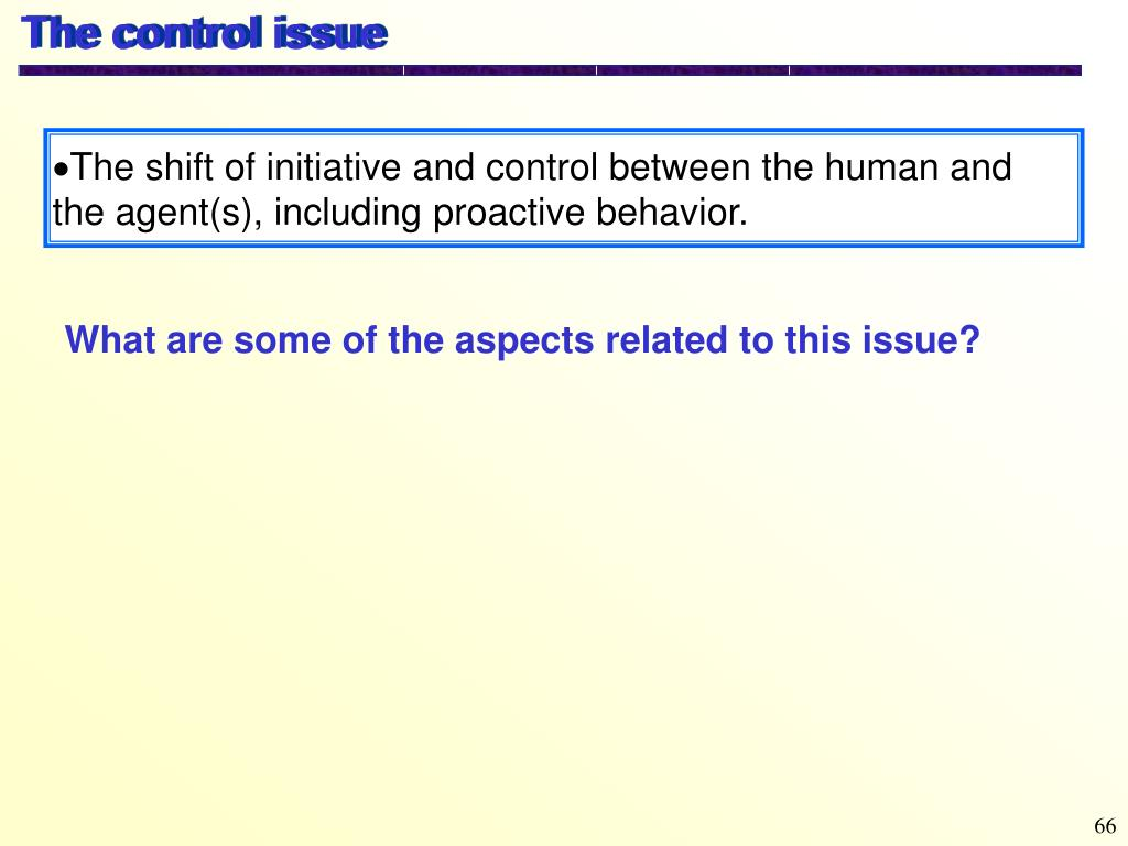 The control issue